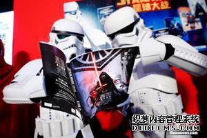 资料图:《星球大战》电影中绝地武士的形象。 中新社记者 富田 摄