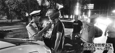 经开交警查获西安首例骑摩托车醉驾刑拘案例